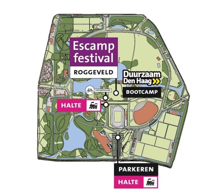 Escampfestival 2018 plattegrond met oa Geloven in Moerwijk Den Haag Bettelies Westerbeek Edgar Neo Soco Soco